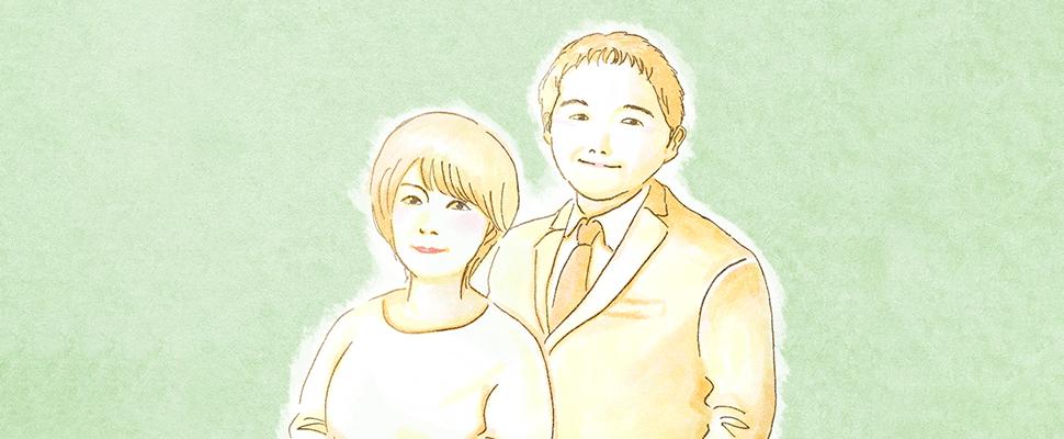 成婚カップルの写真